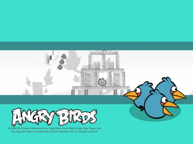Angry Birds the Blues wal
